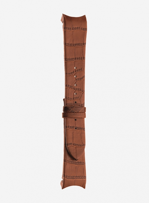 Alligator grained calf leather watchstrap • Italian leather • 873