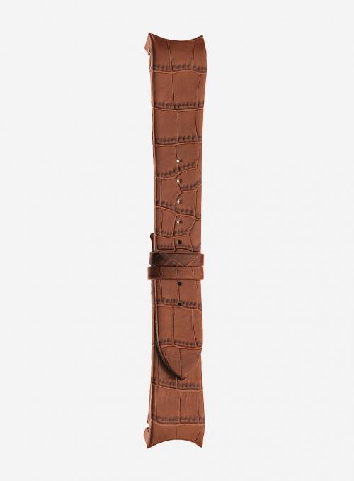 Cinturino in vitello stampa alligatore • Pelle italiana • 873