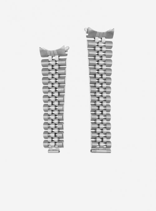 Cinturino solido in acciaio compatibile anche con orologi Rolex • Made in Italy • 930