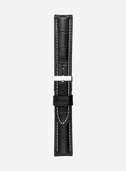 Matt guinea calf leather watchstrap • Italian leather • Made In Italy • 887