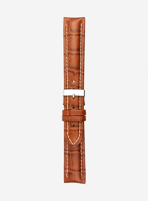 Cinturino in vitello stampa guinea opaco • Pelle italiana • Made In Italy • 887