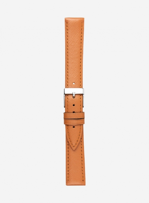 Saffiano calf leather watchstrap • Italian leather • 597