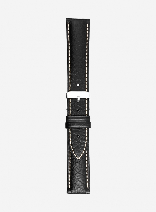 Bull grained calf leather watchstrap • Italian leather • 421