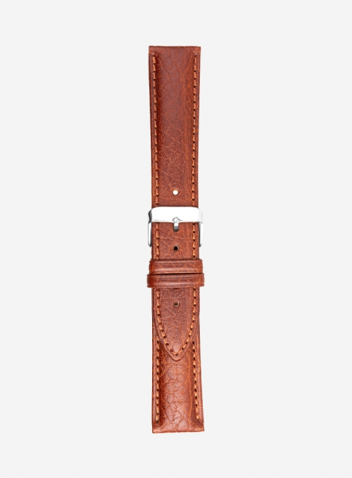 Bull grained calf leather watchstrap • Italian leather • 658