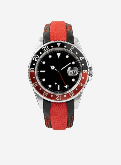 Watchstrap suitable also for Rolex GMT/OYSTER • Leather/cordura • 944