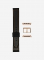 Trophy • Elite silicone and faux-leather carbon fiber pattern watchband for Apple Watch