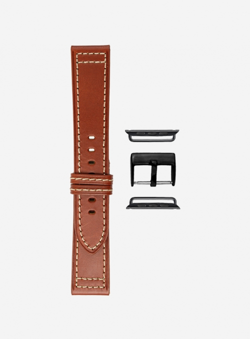 Drake leather watchband suitable for Apple Watch • Genuine Italian Leather • 423-APL