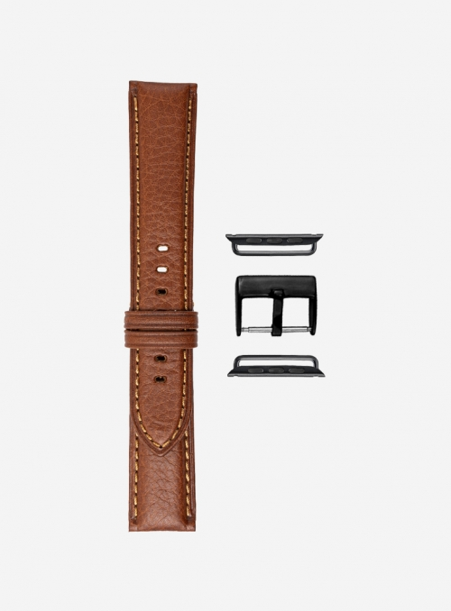 Odessa calf leather watchstrap for Apple Watch • Genuine Italian Leather • 440-APL