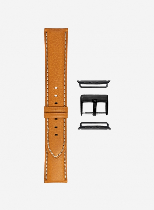 Odessa calf leather watchstrap for Apple Watch • Genuine Italian Leather • 878-APL