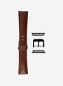 Bull grained calf leather watchstrap suitable for Apple Watch • Genuine Italian Leather • 658-APL