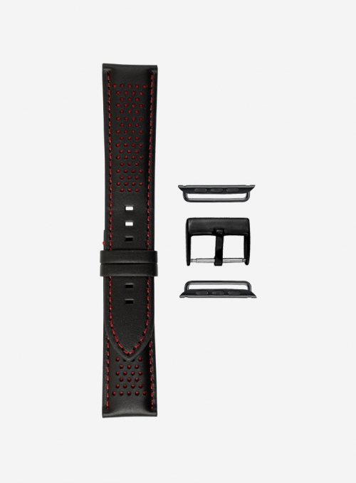 Diablo • Cosmos waterproof leather and Lorica® watchstrap for Apple Watch • Italian Leather