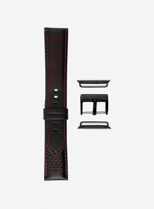 Cinturino compatibile Apple Watch in cuoio cosmos e lorica waterproof • Vera Pelle Italiana • 685-APL