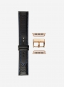 Cosmos waterproof leather and lorica watchstrap suitable for Apple Watch • Genuine Italian Leather • 685-APL