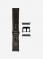 Carbon fiber grained calf leather suitable for Apple Watch • Genuine Italian Leather • 861-APL