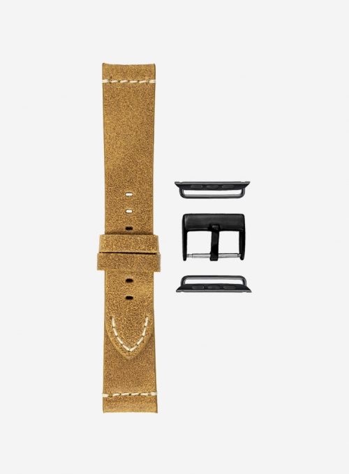 Vintage leather watchstrap for Apple Watch • Genuine Italian Leather • 674-APL