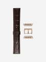 Matt tropical calf leather watchstrap suitable for Apple Watch • Genuine Italian Leather • 469-APL