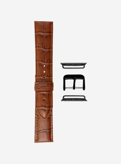 Guinea • Matt tropical calf leather watchstrap for Apple Watch • Italian Leather