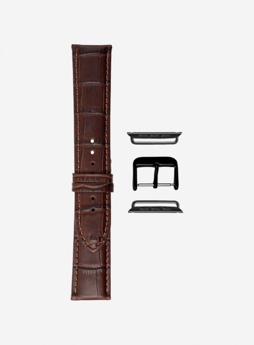 Monsoon • Matt tropical calf leather watchstrap for Apple Watch • Genuine Italian Leather