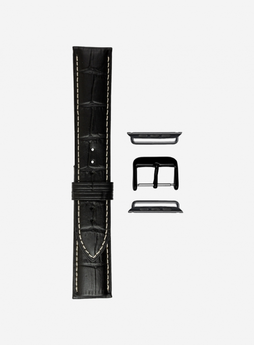 Matt tropical calf leather watchstrap suitable for Apple Watch • Genuine Italian Leather • 474-APL