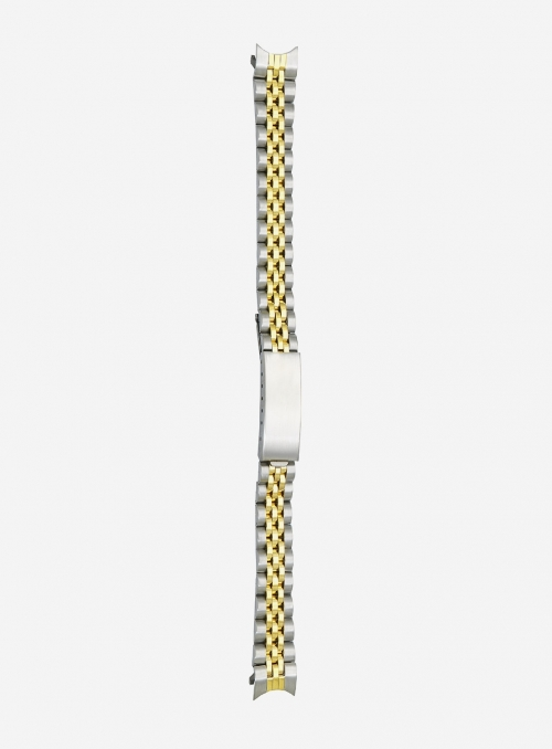 Two-tone gilded stainless steel wrapped watchband • DB508LG