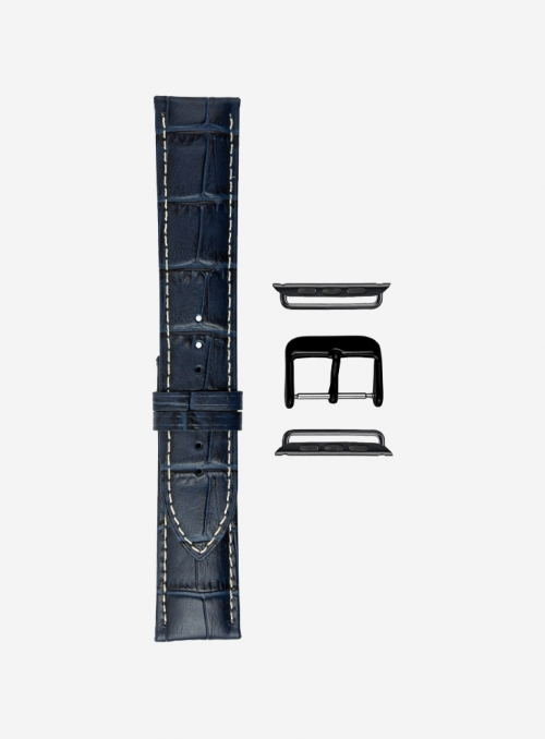 Tropical • Matt tropical calf leather watchstrap for Apple Watch • Italian Leather