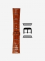 Glossy antigua calf leather watchstrap suitable for Apple Watch • Genuine Italian Leather • 454-APL