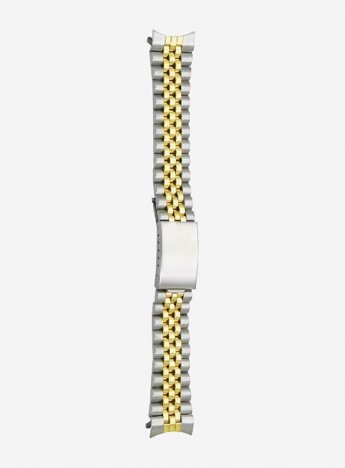 Two-tone gilded stainless steel wrapped watchband • DB508G