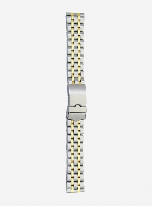Two-tone gilded stainless steel wrapped watchband • 9150MG