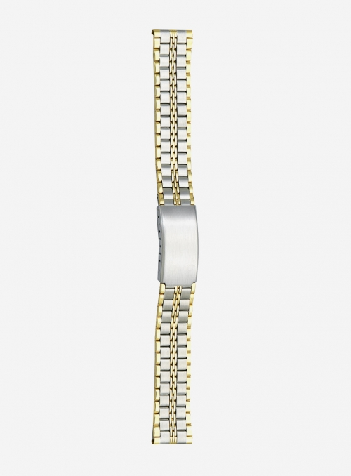 Two-tone gilded stainless steel wrapped watchband • 5823GU