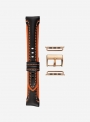 Cosmos leather and waterproof cordura watchstrap suitable for Apple Watch • 730-APL