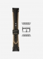Skate • Cinturino Apple Watch in cuoio cosmos e Cordura • Pelle Italiana