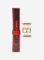 Genuine carbon fibre and lorica watchstrap suitable for Apple Watch • 865-APL