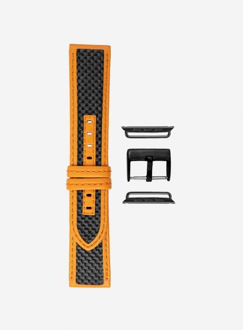 Cinturino compatibile Apple Watch in vera fibra di carbonio e lorica • 865-APL