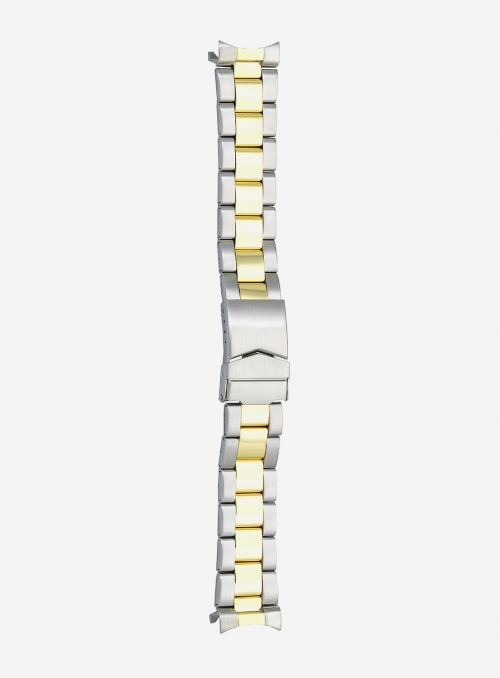 Two-tone gilded stainless steel wrapped watchband • 1900MGC
