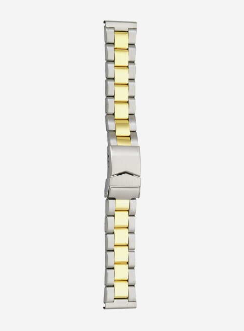 Two-tone gilded stainless steel wrapped watchband • 1900MG
