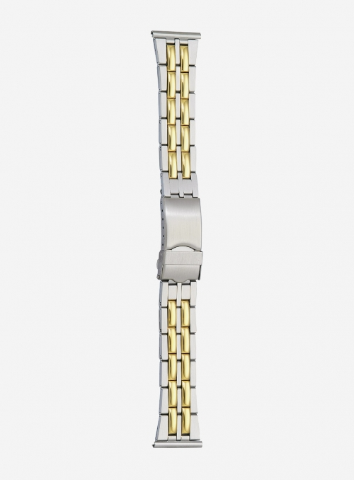 Two-tone gilded stainless steel wrapped watchband • 576MG