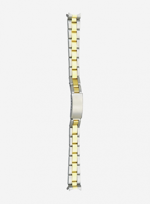 Two-tone gilded stainless steel wrapped watchband • 503MG