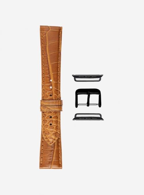 Matt genuine alligator watchstrap suitable for Apple Watch • 624-APL