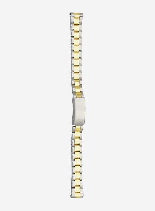 Two-tone gilded stainless steel wrapped watchband • 35MG
