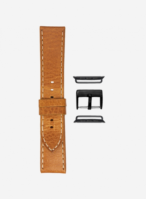 Toscano • Tuscan vacchetta volanata watchstrap for Apple Watch • Genuine Italian Leather