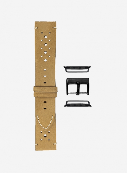 Epoca • Cinturino Apple Watch in scamosciato • Pelle Italiana