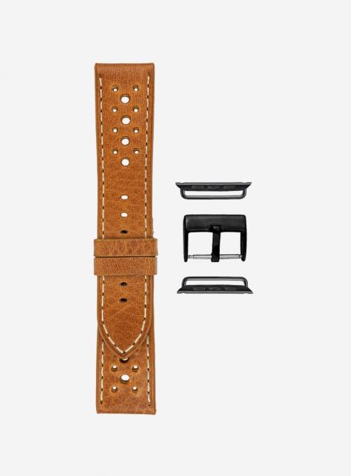 Toscano • Tuscan vacchetta volanata watchstrap for Apple Watch • Genuine Italian Leather
