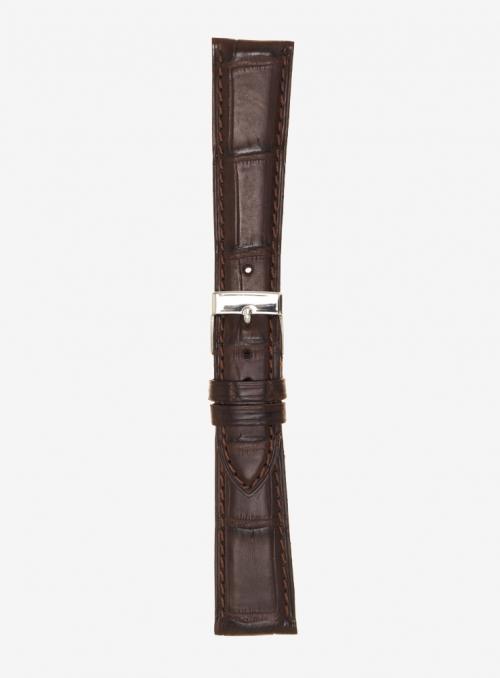 Genuine matt alligator watchstrap • 634/O