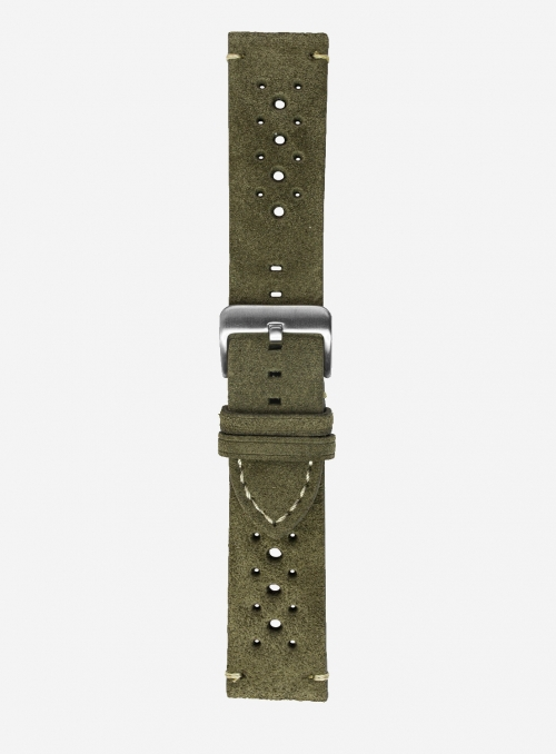 Suede leather watchstrap • Italian leather • 676SH