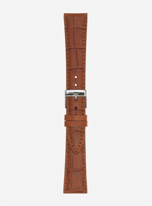 Extra-extra-long matt guinea calf leather watchstrap • Italian leather • 497XXL