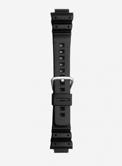 Original CASIO watchband in resin with integrated ends • DW-6000
