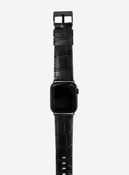 Mississippi • Genuine matt alligator watchstrap for Apple Watch • Made in Italy