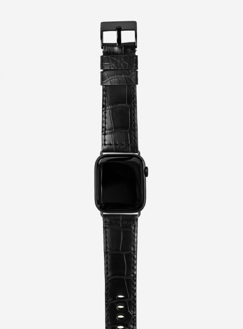 Mississippi • Genuine matt alligator watchstrap for Apple Watch • Made in Italy