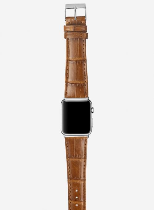 Mississippi • Matt genuine alligator watchstrap for Apple Watch