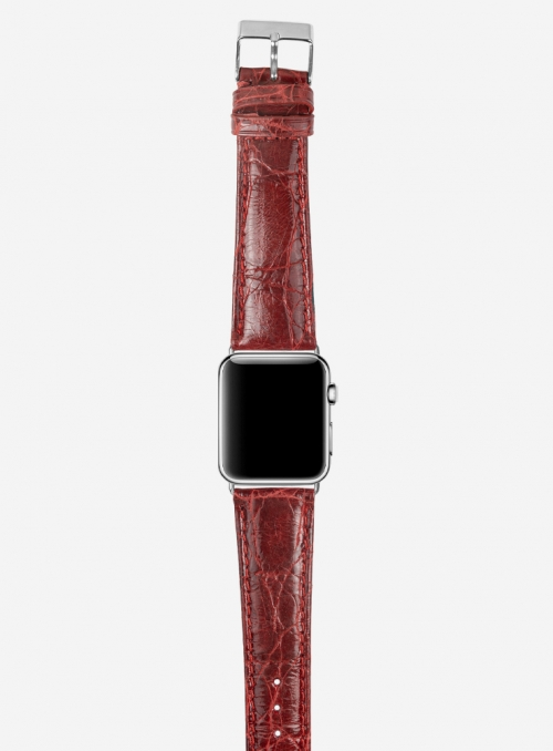 Dundee • Genuine brasile crocodile watchstrap for Apple Watch